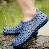 2019Fashion Mens Water Shoes Summer Hollow Comfortable Slip on Beach Sandals VIC