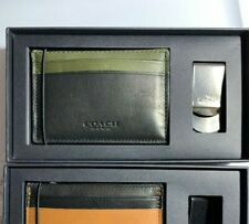 Coach Men F75200 boxed card case NIB NWD