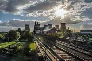 Large Canvas Of Class 66 Passing Ferrybridge Power Station, Railway, Train, Art