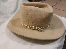 Vintage Bradford Western Cowboy Hat 7 1/8 Long Oval  Glyco-Tite Process Beige