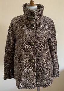 NWT Talbots The Jackie Fit Button Down Leopard Print Lined Jacket Women's Sz 2P