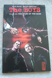 THE BOYS vol 1 THE NAME OF THE GAME GN Ennis Robertson first print