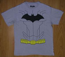 Men's Medium Batman Gray T Shirt Utility Belt   EUC FREE SHIPPING