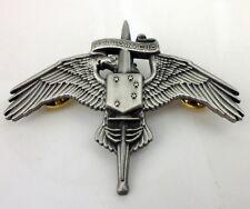 Marine Corps USMC MARSOC Wings Badge Pin US Marine Raider Insignia Dark Silver