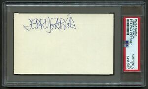 Jerry Garcia signed autograph 3x5 index card Grateful Dead Founding Member PSA