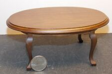 Dollhouse Miniature Dining Room Table Walnut 1:12 1 inch scale K6 Dollys Gallery