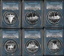 6 CANADA SILVER DOLLARS 1982-1989 (PCGS PR69 DEEP CAMEO) SEE PICS > NO RSRV