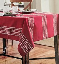 "New Threshold Tablecloth Red -White Stripes 60x120"" Christmas & Other Occasions"