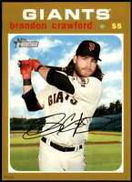Brandon Crawford 2020 Topps Heritage 5x7 Gold #178 /10 Giants