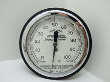 JOHNSON SERVICE COMPANY TEMP GAUGE 4+1/16 INCH METER GUAGE STEAM PUNK (#2207)