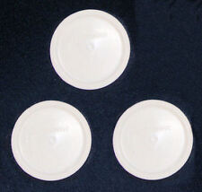 3 NEW Corning Ware French White LIDS F-16 PC for 16 oz Dish/Bowl FREE SHIP MINT