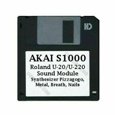 Akai S1000 Floppy Roland U-20/U-220 Sound Module Synth Pizz Metal Breath Nails