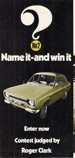 Ford Escort Sport 'Name It & Win It' 1971 UK Market Competition Entry Brochure