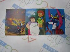 Anime Invincible Robo Trider G7 Mini Card Set of 3 Ohsato Japan Vintage 1980s