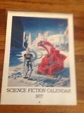 SCIENCE FICTION 1977 CALENDAR, Scribners sf art by Paul, Finlay, Brown, Emsh