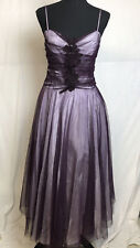 Scene Juniors Purple Sleeveless Tulle Fit & Flare Prom Dress Cocktail Dress 9/10