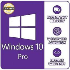 INSTANT WINDOWS 10 PROFESSIONAL PRO 32 & 64 BIT ACTIVATION CODE LICENSE KEY
