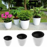 US Self-watering Plant Flower Detachable Pot Plastic Planter Garden Decor gift