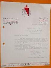 RARE FOOTBALL 1950 COURRIER EN-TETE ROYAL STANDARD CLUB LIEGEOIS LIEGE BELGIQUE