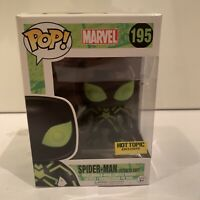 Funko Pop! Marvel Spider-Man (stealth Suit) #195 Hot Topic Exclusive In Box New