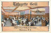 Walterboro South Carolina~Lafayette Grill~Short Route to Florida~1940's Linen PC
