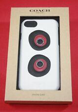 COACH APPLE IPHONE 7 PHONE CASE PANDA EYE DESIGN IN CHALK MULTI COLOR NEW