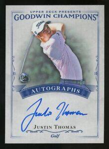 2016 Upper Deck Goodwin Champions Golf Justin Thomas Signed AUTO