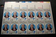 US Plate Blocks Stamp Scott# C98 Philp Mazzei Blk of 10 W/P# MNH1980(note)  C449
