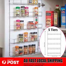Spice Rack 5 Tier Wall Spices Kitchen Pantry Jar Organiser Shelves Storage