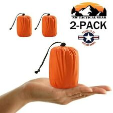 2 Pack Emergency Sleeping Bag Outdoor Camping Gear For Hiking Survival Thermal
