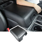 Carbon Fiber Armpad Center Console Armrest Cover For Ford F150 2015-2020 Leather