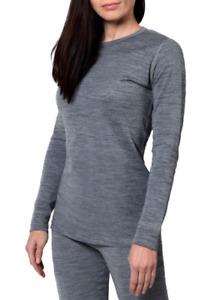 Womens 100% Merino Wool 2 layer base layer Top