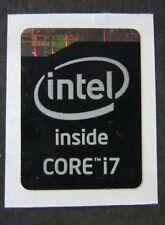 5x Original 4th Gen. Black Edition Intel Core i7 Inside Sticker 16mm x 21mm USA