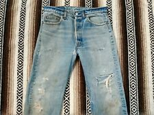 Levi's 501 XX vtg Jeans 80s faded made in USA size 32x29 distressed denim Levis