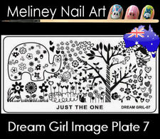 Dream Girl 7 Stamping Nail Art Image Plate Design Rectangle XL Stencil metal