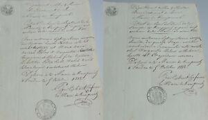 French Taufschein & Totenschein Kempenich 1812 - Family Wilms IN Weibern