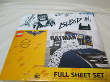 New Lego Batman Full Sheet Set ~ Sketchy Batman ~ Black, White, Blue, Gold, Red