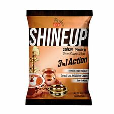 Tiger Shineup 3 in 1 Powder Brass Copper Cleaner LARGE Polish 200gm UK