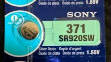 1 Pack Sony 371 Silver Oxide Battery AG6 SR69 SR92 V371 D371 SR920SW LR921 L920