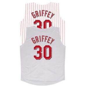 Ken Griffey Jr. 2000 Cincinnati Reds Home & Grey Vest Jersey Men's (M-2XL)