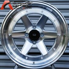 15X7 +35 ROTA CK RACING SILVER 4X100 WHEELS Fits Vw Rabbit JETTA GOLF Mirage FIT