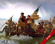 GEORGE WASHINGTON CROSSING THE DELAWARE 8X10 REAL CANVAS GICLEEPRINT
