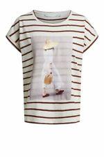 Leinen-Baumwoll-Shirt, Marke Oui, Farbe: Natur/Braun, Größe 38