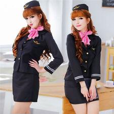 Sexy Stewardess Uniform Flight Attendant Air Hostess Women Cosplay Funny Dress