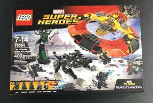 NEW IN BOX LEGO MARVEL SUPER HEROES 76084 THE ULTIMATE BATTLE FOR ASGARD 400 PCS