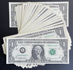 1999 San Francisco $1 Consecutive Star Notes - UNC Lot Of 76 (P932)