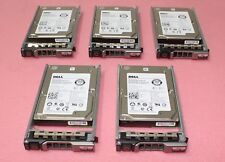 "Lot of 5 DELL H8DVC 300GB 15K 6Gbps 2.5""  SAS Hard Drive ST9300653SS"