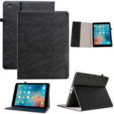 Luxus Leder Cover für Apple iPad 2 3 4 Tablet Schutzhülle Case Tasche schwarz