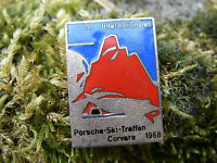 PORSCHE INTERNATIONALES SKITREFFEN CORVARA 1968 - Brosche Anstecker Pin