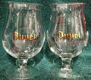 2 Duvel Belgian Beer Glasses